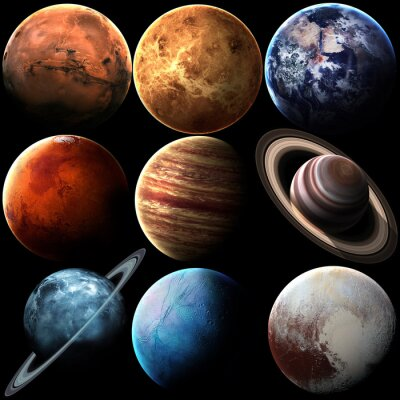 Canvas print Hight quality isolated solar system planets. Elements of this image furnished by NASA