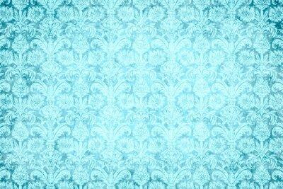 Canvas print hintergrund - blauer prunk