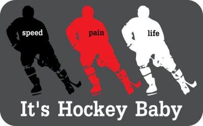 Canvas print Hockey label