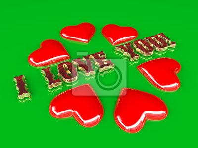 Holiday postcard - Happy Valentine's Day with red heart.  Look through my portfolio to find more images of the same series