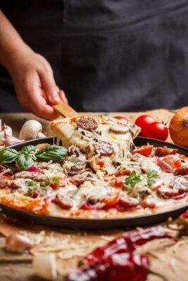 Canvas print Homemade pizza