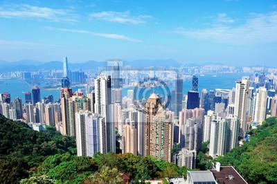 Canvas print Hong Kong architecture
