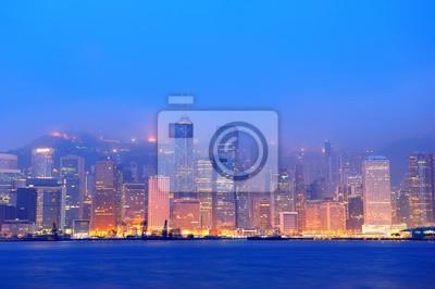 Hong Kong Victoria Harbor morning