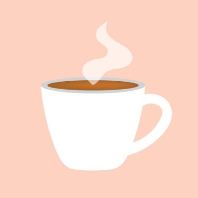 Canvas print hot coffee cup icon- vector illustration