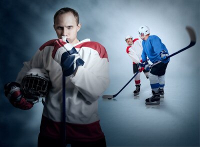 Canvas print Ice hockey game moment