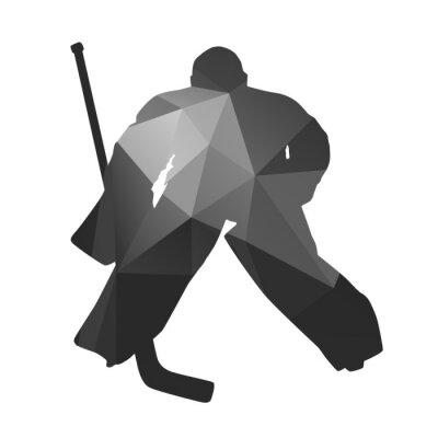 Canvas print Ice hockey goalkeeper