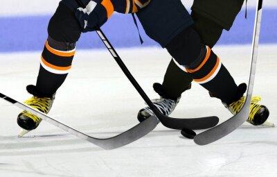 Canvas print Ice Hockey players on rink