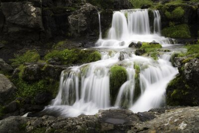 Canvas print Icelandic Waterfall