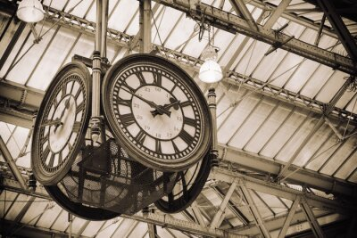 Canvas print iconic old clock Waterloo Station, London