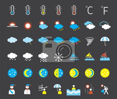 Icons set : Weather Symbols