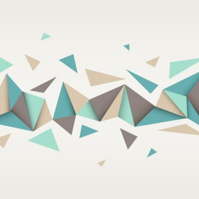 Canvas print Illustration of abstract texture with triangles.