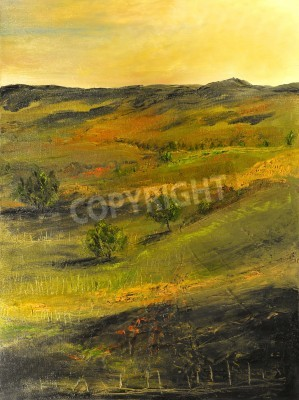 Image of a Beautiful landscape Oil Painting on Canvas