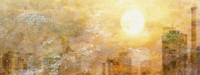 Canvas print Impression City Sun