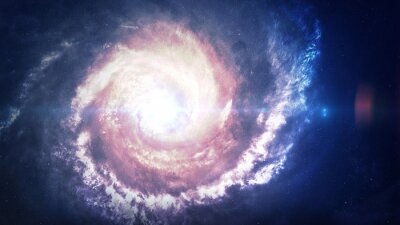Canvas print Incredibly beautiful spiral galaxy somewhere in deep space. Elements of this image furnished by NASA