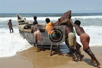 Canvas print indian fishermen