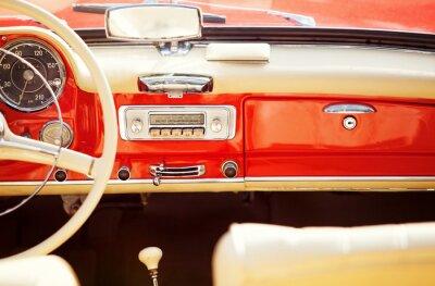 Canvas print interno auto vintage