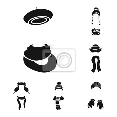 Isolated object of fabric and weather symbol. Set of fabric and fashion stock vector illustration.