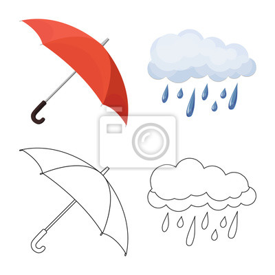Isolated object of weather and weather symbol. Set of weather and application stock symbol for web.