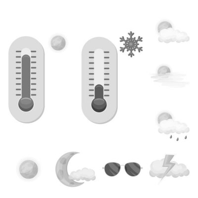Isolated object of weather and weather symbol. Set of weather and application stock vector illustration.