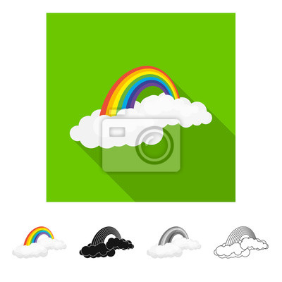 Isolated object of weather and weather symbol. Set of weather and application vector icon for stock.