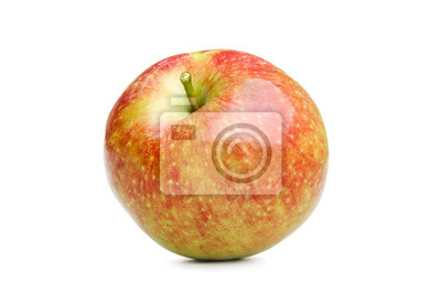 Canvas print Isolated red apple