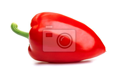 Canvas print Isolated red pepper