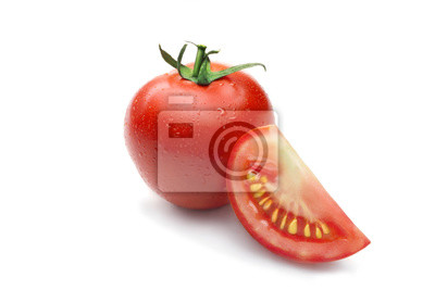 Isolated red tomato