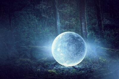 Canvas print It is full moon. Mixed media