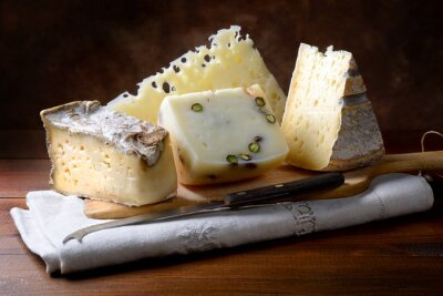 Canvas print Italian cheeses
