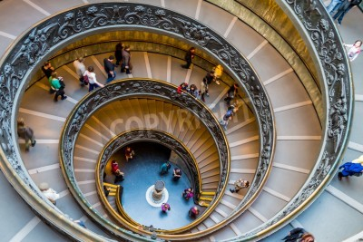 italy, rome, vatican museum, spiral staircase by giuseppe momo