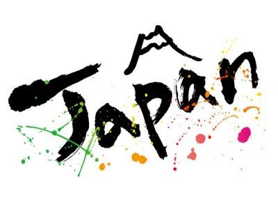 Canvas print japan_moji_color