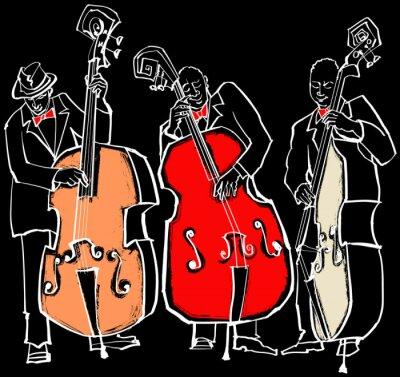 Canvas print Jazz band
