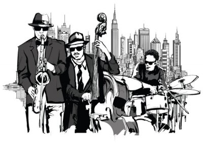Canvas print Jazz band in New-York