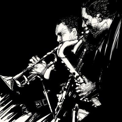 Canvas print jazz brass musician