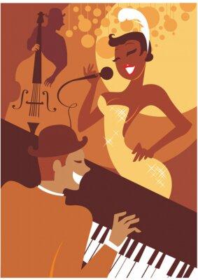 Canvas print Jazz concert