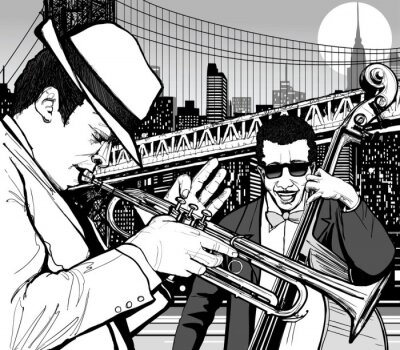Canvas print jazz in New York