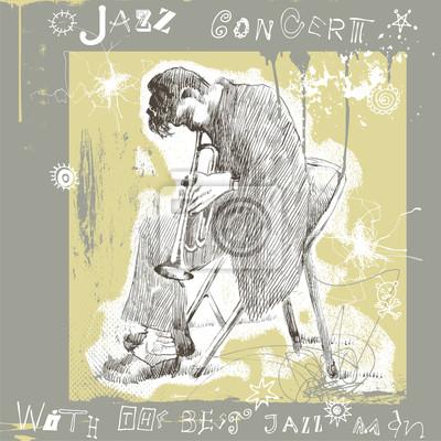 jazz man playing trumpet
