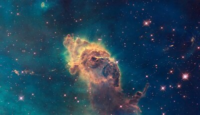 Canvas print Jet in Carina Nebula. Composed of gas and dust.