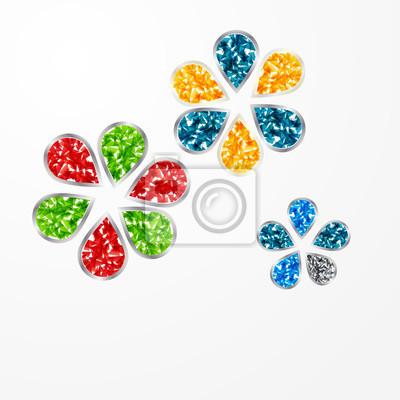 Jewel flowers. Vector illustration