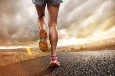Canvas print Jogging