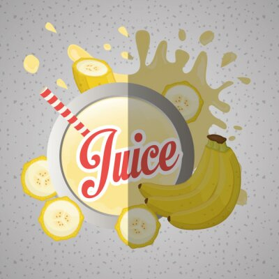 Canvas print Juice icon design