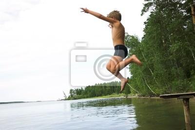 jumpimng boy