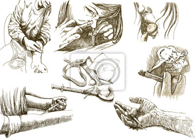 junkies (hand drawing collection of sketches)
