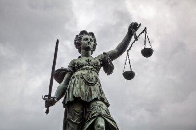 Canvas print Justitia Statue in Frankfurt am Main