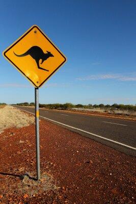 Canvas print Kangaroo Sign in South Australia