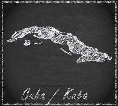 Canvas print Karte von Kuba