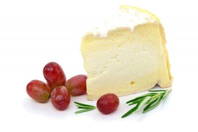 Canvas print Käse Trauben