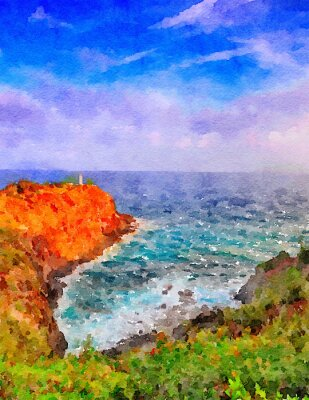 Canvas print Kauai Lighthouse