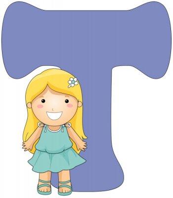 Canvas print Kiddie Alphabet