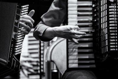Canvas print Konzert Handharmonika Club, Akkordeon Orchester, Detail